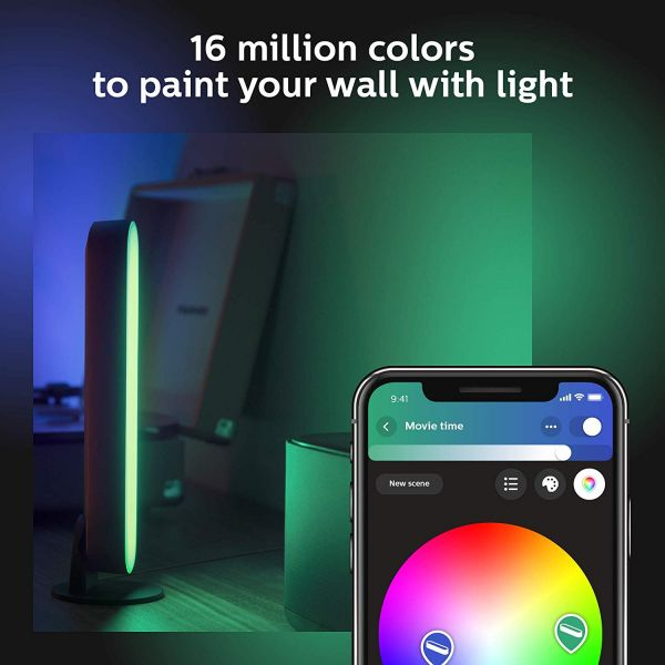 Philips Hue Play Double Pack (Works with Alexa), Black