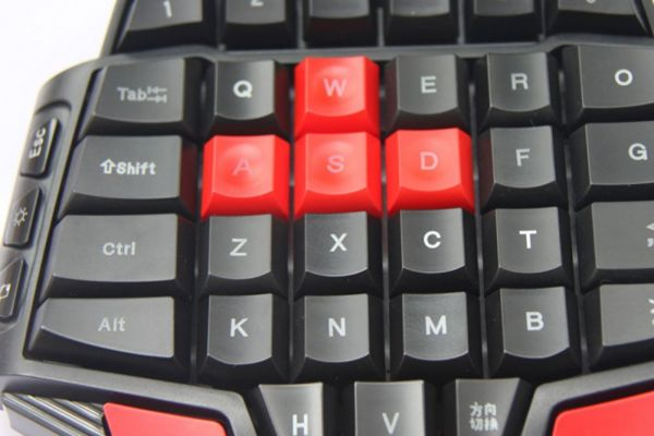 Delux T9 46-Key Wired Gaming Keyboard with 3-Mode LED Backlight
