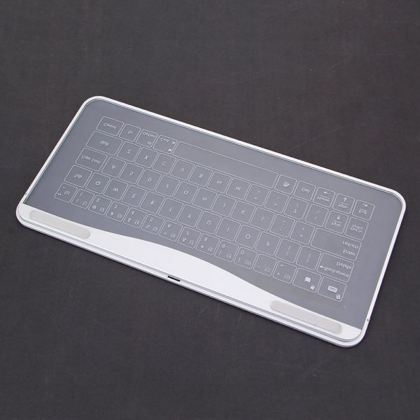 Bastron Transparent Touch Glass Keyboard Touchpad Mouse Gesture Function LED backlight