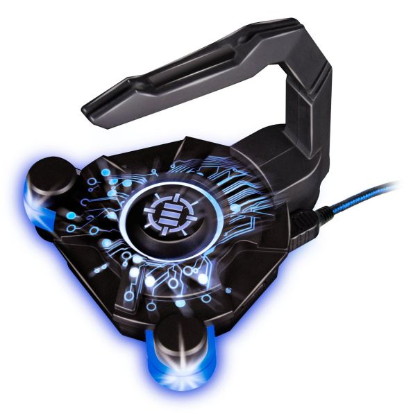 Enhance Gaming Mouse Bungee & Active 2.0 USB Hub for Cord Management with Flexible Arm & Data Transfer