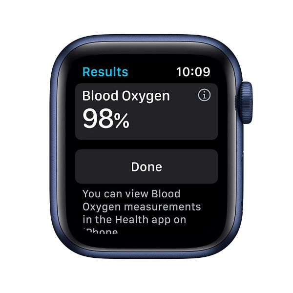 Apple Watch Series 6 (GPS, 40mm) - Blue Aluminum Case with Deep Navy Sport Band