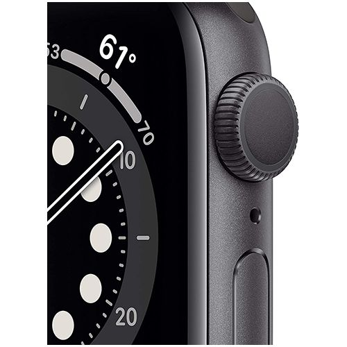 Apple Watch Series 6 (GPS, 40mm) - Space Grey Aluminum Case with Black Sport Band