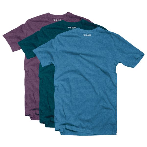 Tri-blend Crew Neck 3 Pack - Bear Appeal