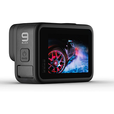 GoPro Hero9 Black Waterproof Action Camera - Front LCD and Touch Rear Screens, 5K Ultra HD Video, 20MP Photos, 1080p Live Streaming, Webcam, Stabilization