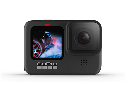 GoPro Hero9 Black Waterproof Action Camera Bundle (Dual Battery Charger, Carrying Case, and 2 Batteries)