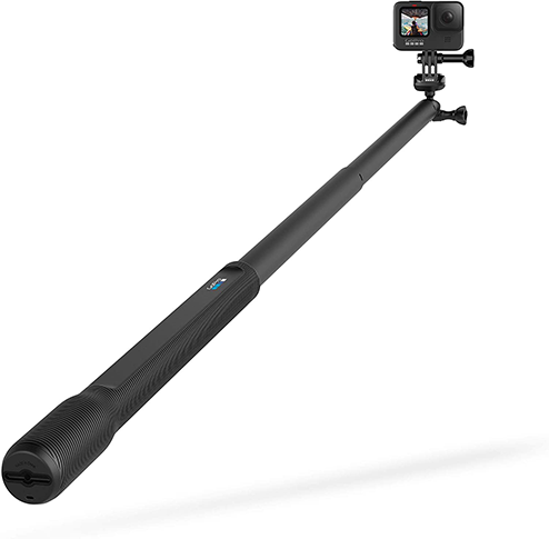 GoPro HERO9 Black Bundle with El Grande Mount (38-inch Extension Pole)