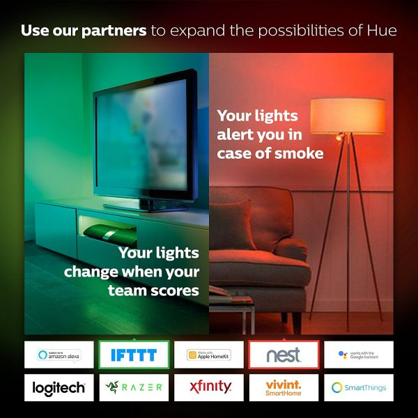 10 Pack Philips Hue White and Color Ambiance E27
