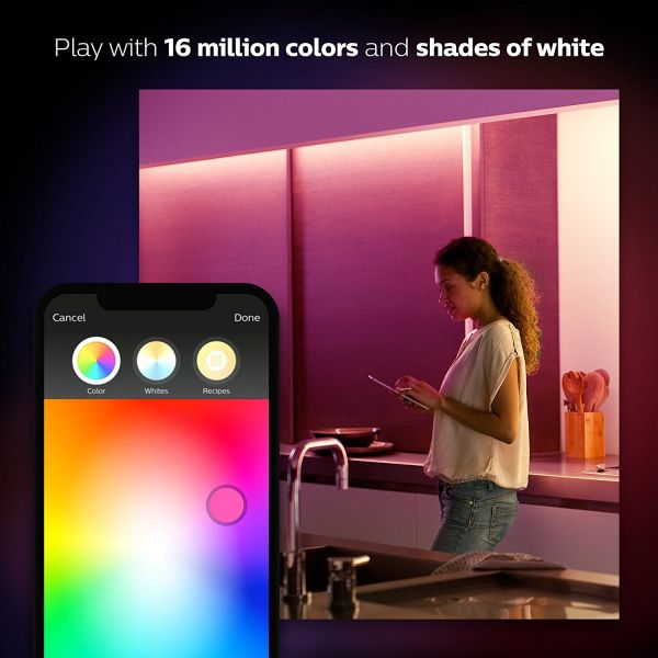Philips Hue White and Color Ambiance LightStrip Plus Dimmable LED Smart Light - Extension