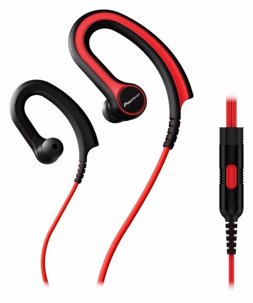 Pioneer Fully Enclosed Sports Head Earphones – Red [SE-E721-R]