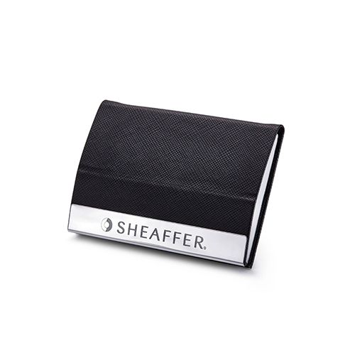 Sheaffer 9317 Gift 100 Ballpoint Pen – Matte Black With Nickel Plated Trim And Business Card Holder (WP19329)