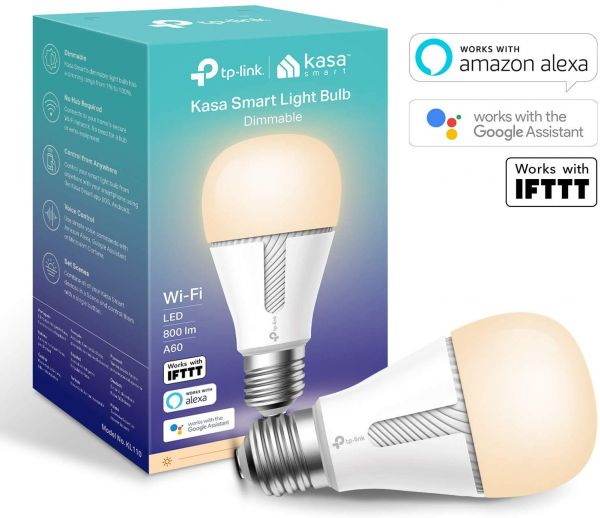TP-Link Smart WiFi Light Bulb, E27, 10W, Dimmable Soft Warm White