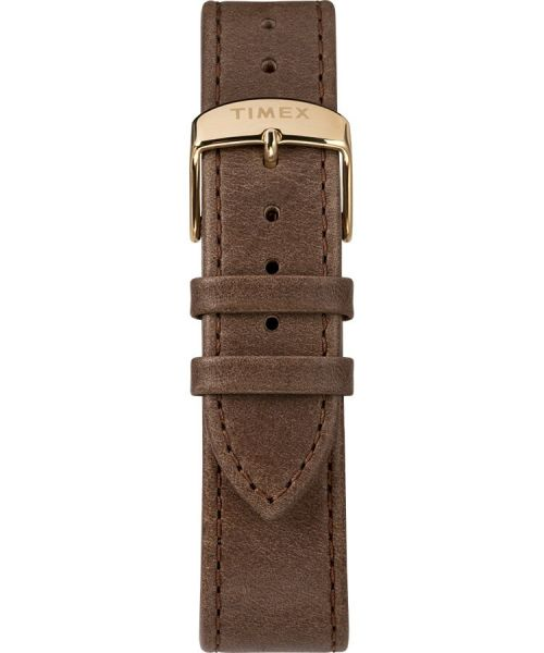 Timex Standard Chronograph 41mm Leather Strap Watch -# TW2T20900VQ