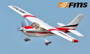 FMS 1400MM SKY TRAINER 182 (5CH WITH FLAP)-AT RED RTF-FMS007