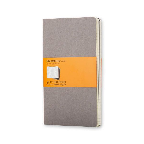 Moleskine Set of 3 Ruled Cahier Journals - Large