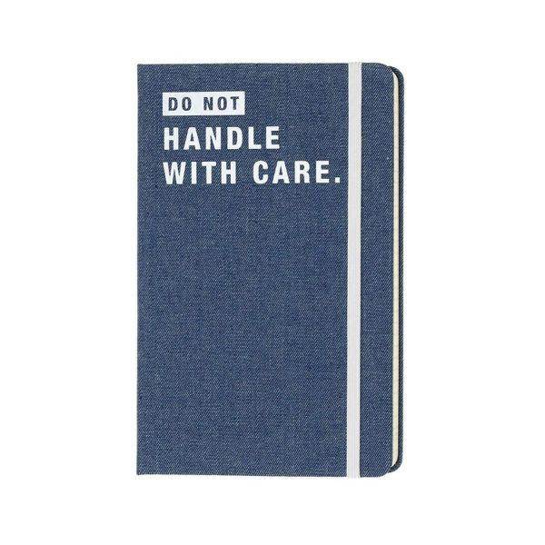 Moleskine Denim Notebook - Dont Handle with Care