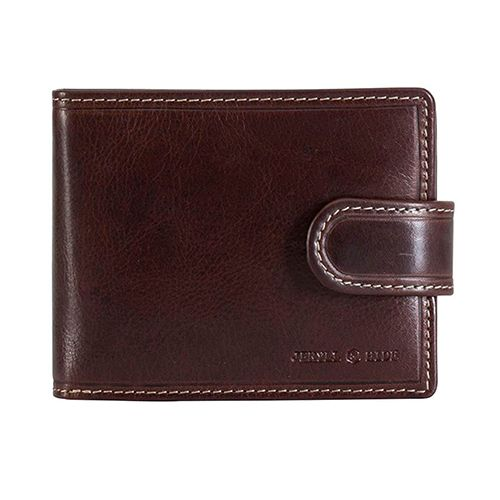 Jekyll and Hide 2791OXCO Oxford Bifold Wallet With Coin And Tab Closure - Coffee (WP-23684)