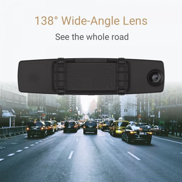 YI Mirror Dash Cam, Dual Dashboard Camera Recorder with Touch Screen